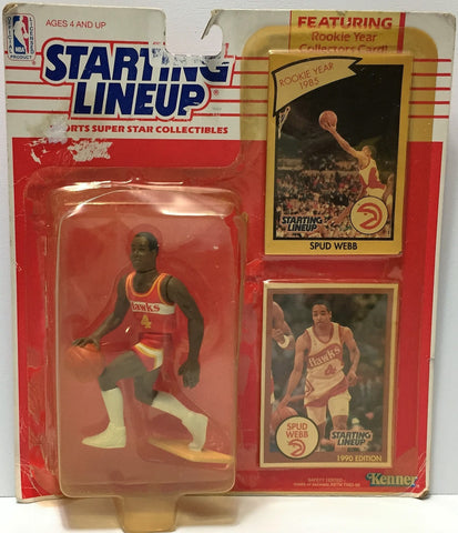 (TAS034800) - 1990 Hasbro Starting Lineup Figure - NBA Basketball Spud Webb, , Action Figure, Starting Lineup, The Angry Spider Vintage Toys & Collectibles Store  - 1