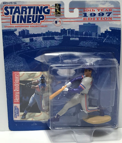 (TAS034797) - 1997 Hasbro Starting Lineup Figure - MLB Baseball Henry Rodriguez, , Action Figure, Starting Lineup, The Angry Spider Vintage Toys & Collectibles Store  - 1