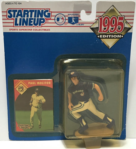 (TAS034799) - 1995 Hasbro Starting Lineup Figure - MLB Baseball Paul Molitor, , Action Figure, Starting Lineup, The Angry Spider Vintage Toys & Collectibles Store  - 1
