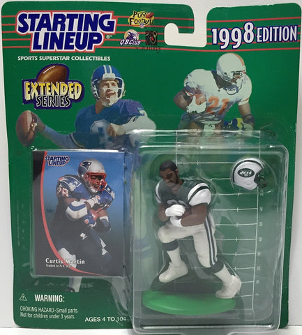 (TAS034821) - 1998 Hasbro Starting Lineup Figure - NFL Football Curtis Martin, , Action Figure, Starting Lineup, The Angry Spider Vintage Toys & Collectibles Store  - 1