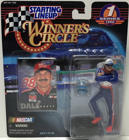 (TAS034803) - 1998 Hasbro Starting Lineup Figure - Winner's Circle Dale Jarrett, , Action Figure, Starting Lineup, The Angry Spider Vintage Toys & Collectibles Store  - 1