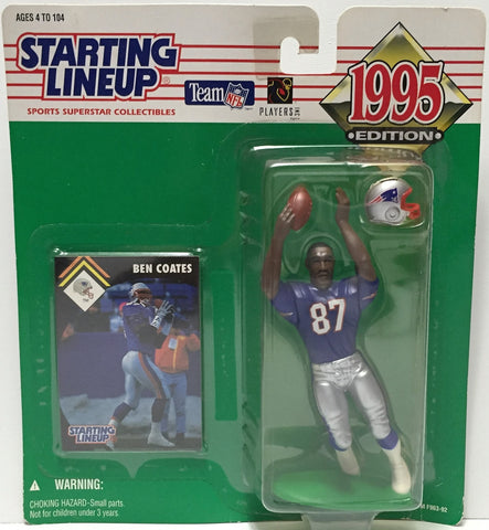 (TAS034820) - 1995 Hasbro Starting Lineup Figure - NFL Football Ben Coates, , Action Figure, Starting Lineup, The Angry Spider Vintage Toys & Collectibles Store  - 1