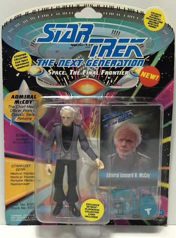(TAS034815) - 1993 Playmates Star Trek The Next Generation Figure Admiral McCoy, , Action Figure, Star Trek, The Angry Spider Vintage Toys & Collectibles Store  - 1