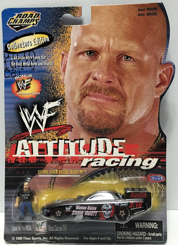(TAS034823) - 1999 Jakks Pacific WWF Attitude Racing - Stone Cold Steve Austin, , Trucks & Cars, Wrestling, The Angry Spider Vintage Toys & Collectibles Store  - 1