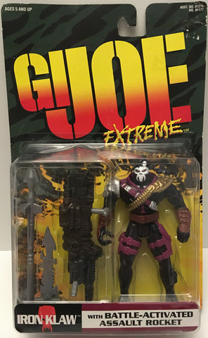 (TAS032900) - 1995 Kenner G.I. Joe Extreme Figure - Iron Klaw & Assault Rocket, , Action Figure, G.I. Joe, The Angry Spider Vintage Toys & Collectibles Store  - 1