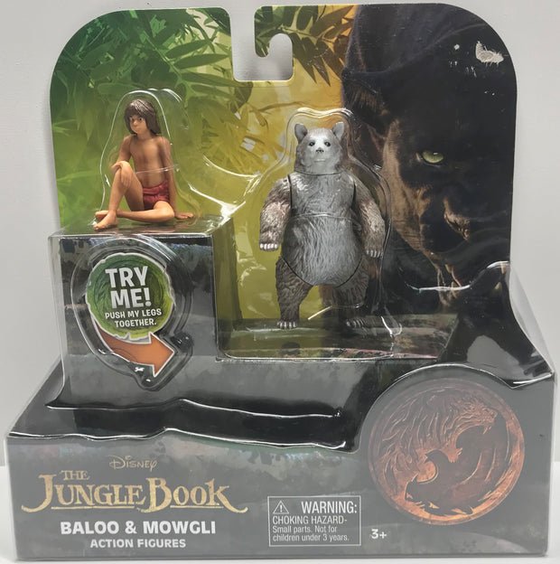 TAS038094 - 2016 Disney The Jungle Book - Baloo & Mowgli Action Figures