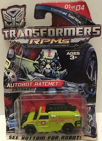 (TAS032903) - 2009 Hasbro Transformers RPMS Autobot Ratchet Combat Series 1 of 4, , Action Figure, Transformers, The Angry Spider Vintage Toys & Collectibles Store  - 1