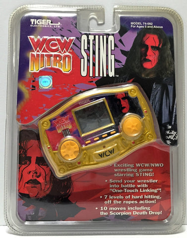(TAS034512) - 1998 Tiger Electronics WCW Wrestling Nitro Sting Handheld Game WWE, , GAme, Tiger Electronics, The Angry Spider Vintage Toys & Collectibles Store  - 1