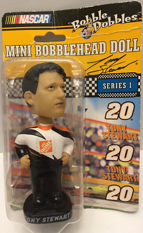 (TAS032909) - Nascar Bobble Dobbles Series 1 Mini Bobble Head - Tony Stewart, , Bobblehead, NASCAR, The Angry Spider Vintage Toys & Collectibles Store  - 1