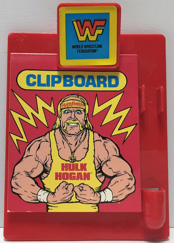 (TAS034517) - Titan Sports Wrestling WWF WWE Used Mini Clipboard - Hulk Hogan, , Books, Titan Sports, The Angry Spider Vintage Toys & Collectibles Store  - 1