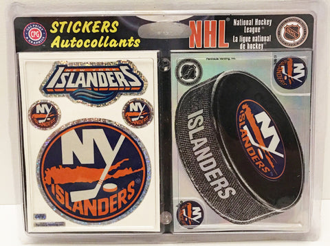 (TAS032914) - NHL Hockey Autocollants Stickers - NY Islanders, , Stickers, NHL, The Angry Spider Vintage Toys & Collectibles Store  - 1