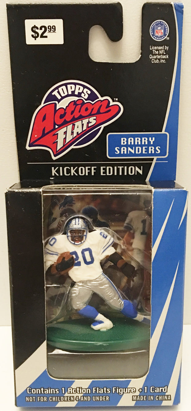 (TAS032916) - 1998 Topps Action Flats Kickoff Edition NFL - Lions Barry Sanders, , Action Figure, NFL, The Angry Spider Vintage Toys & Collectibles Store  - 1