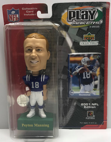 TAS038117 - 2001 Upper Deck NFL Play Makers - Peyton Manning Bobble Head