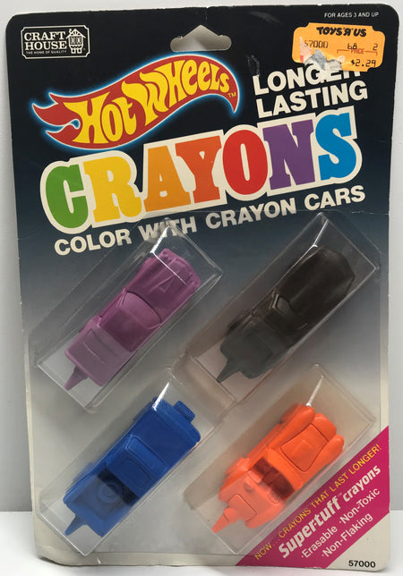 TAS038127 - 1989 Craft House Mattel Hot Wheels Crayon Cars