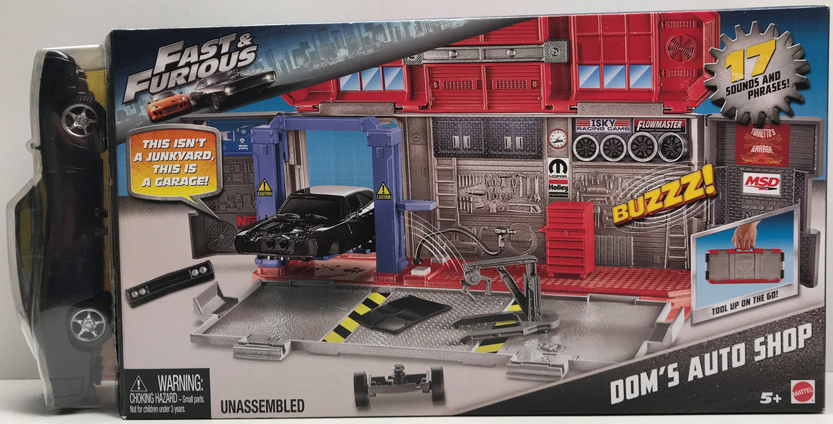Tas038152 2016 Mattel Fast Furious Doms Auto Shop The Angry