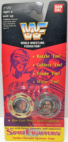 (TAS034544) - 1994 Titan Sports WWF Wrrestling Spin Fighters - Tatanka & Crush, , Action Figure, Titan Sports, The Angry Spider Vintage Toys & Collectibles Store  - 1