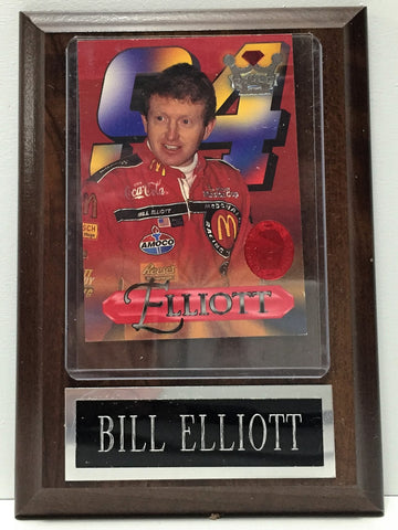 (TAS034547) - Crown Jewels Elite NASCAR Racing Wooden Plaque - Bill Elliott, , Other, NASCAR, The Angry Spider Vintage Toys & Collectibles Store  - 1
