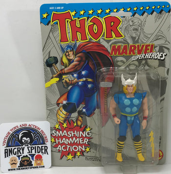 TAS040368 - 1991 Toy Biz Marvel Super Heroes Action Figure - Thor