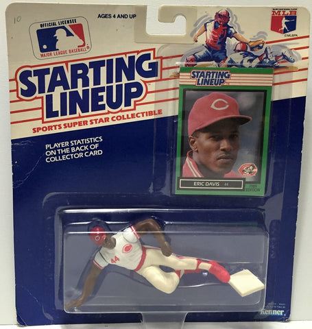 (TAS034549) - 1989 Hasbro Starting Lineup Figure - MLB Baseball Eric Davis, , Action Figure, MLB, The Angry Spider Vintage Toys & Collectibles Store  - 1