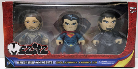 (TAS034558) - 2013 Mezco Toys Man of Steel Mini MEZ-ITZ Set Superman Zod Jor-el, , Action Figure, Superman, The Angry Spider Vintage Toys & Collectibles Store  - 1