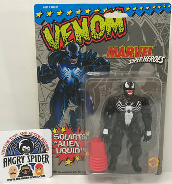 TAS040376 - 1993 Toy Biz Marvel Super Heroes Spider-Man Action Figure - Venom