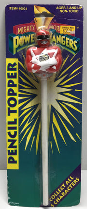TAS038169 - 1993 Mighty Morphin Power Rangers Pencil Topper - Red
