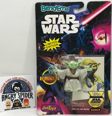 TAS040385 - 1993 Just Toys Star Wars Bend-Ems Action Figure - Yoda Jedi Master