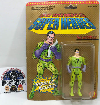 TAS040388 - 1989 Toy Biz DC Comics Super Heroes Action Figure - The Riddler