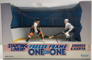 TAS038177 - 1997 Kenner NHL Starting Lineup Freeze Frame Lindros & Kariya