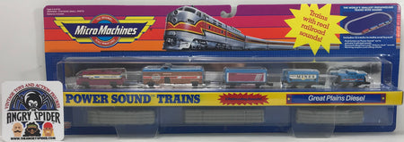 TAS040394 - 1990 Galoob Micro Machines Power Sound Trains Great Plains Diesel