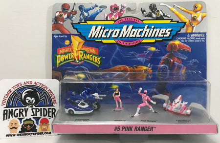 TAS040399 - 1994 Galoob Micro Machines Mighty Morphin Power Rangers Pink #5