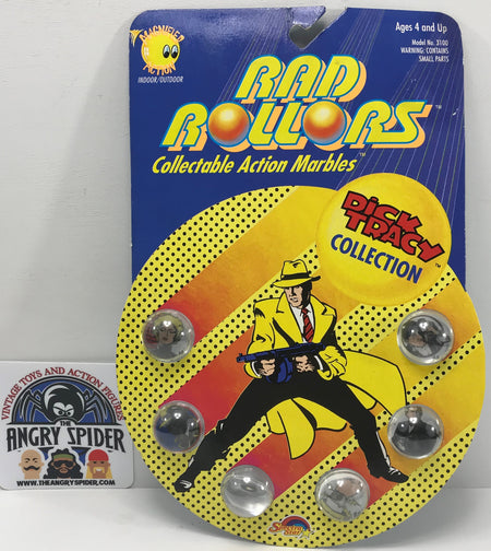 TAS040426 - 1990 Spectra Star Disney Dick Tracey Collection Rad Rollers Marbles