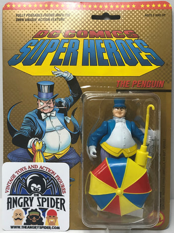 TAS040465 - 1989 Toy Biz DC Comics Super Heroes Action Figure - The Penguin