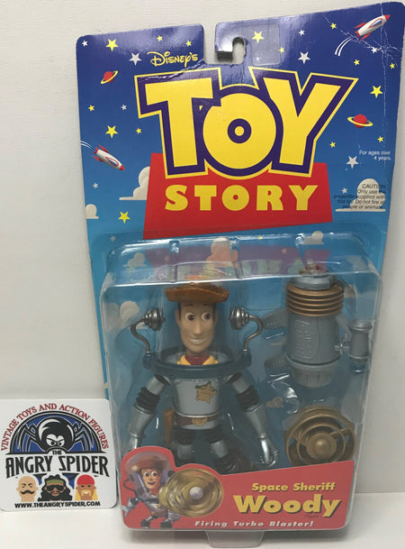 TAS040478 - 1998 Mattel Disney Toy Story Space Sheriff Woody Action Figure