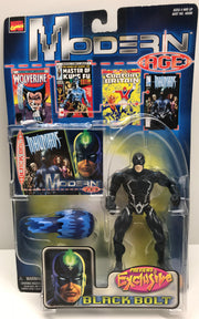 TAS038258 - 1999 Toy Biz Marvel Modern Age - Black Bolt Action Figure