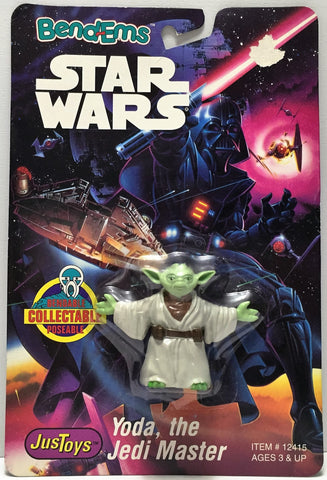 (TAS034768) - 1993 Just Toys Bend-Ems Star Wars Figure - Yoda, The Jedi Master, , Action Figure, Star Wars, The Angry Spider Vintage Toys & Collectibles Store  - 1