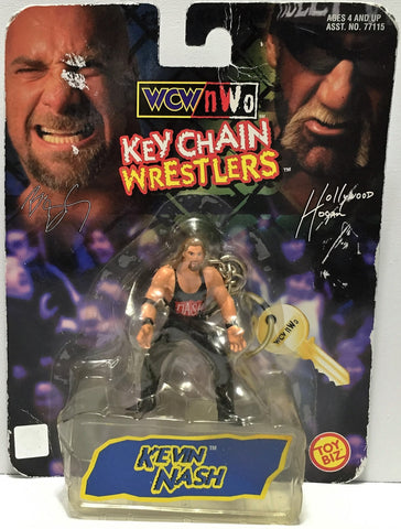 (TAS034781) - 1998 Toy Biz nWo WCW Key Chain Wrestlers - Kevin Nash, , Keychain, Wrestling, The Angry Spider Vintage Toys & Collectibles Store  - 1