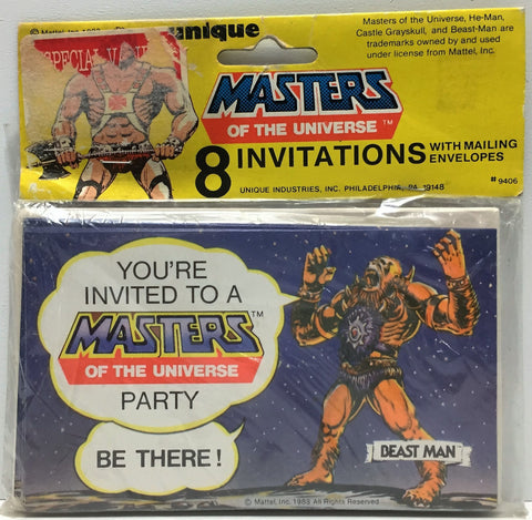 (TAS034780) - 1983 Mattel Master of the Universe He-Man Party Invitations, , Party, MOTU, The Angry Spider Vintage Toys & Collectibles Store  - 1