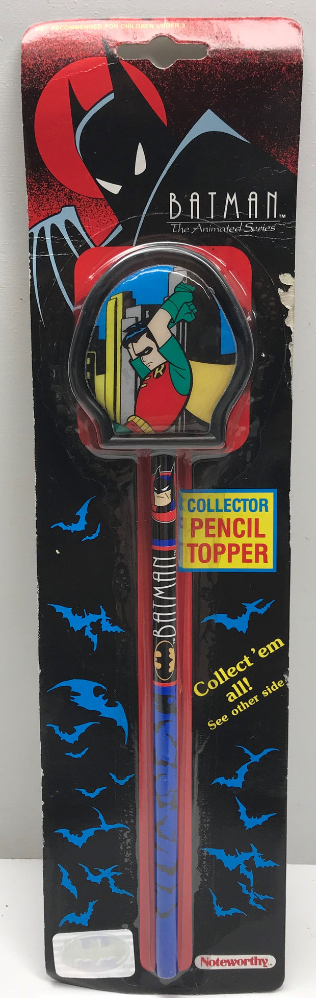 TAS038320 - 1992 Noteworthy Batman The Animated Series Pencil Topper - Robin