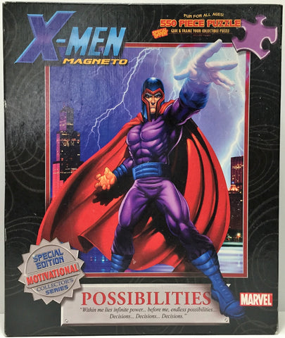 (TAS034784) - 2003 Masterpiece Puzzle Marvel X-Men Magneto 550 Piece Puzzle, , Puzzle, X-Men, The Angry Spider Vintage Toys & Collectibles Store  - 1