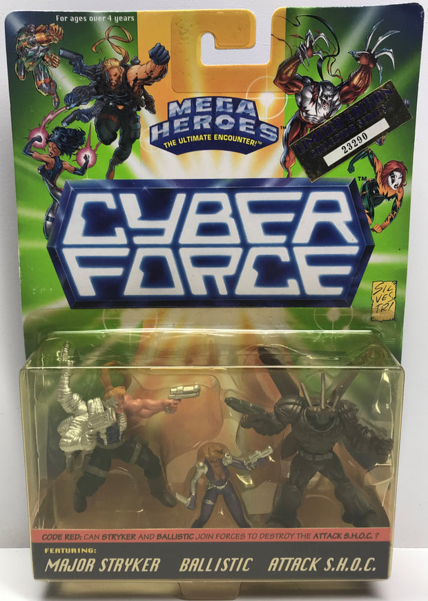 TAS038512 - 1995 Mattel Cyber Force Major Stryker Ballistic S.H.O.C.