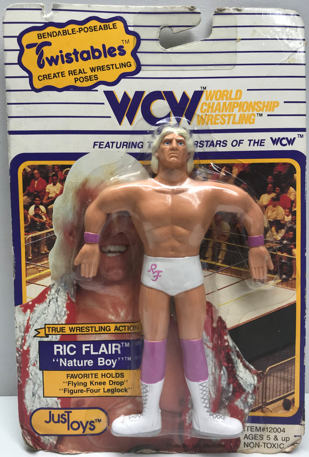 "TAS038531 - 1990 Just Toys WCW Twistables Ric ""Nature Boy"" Flair"