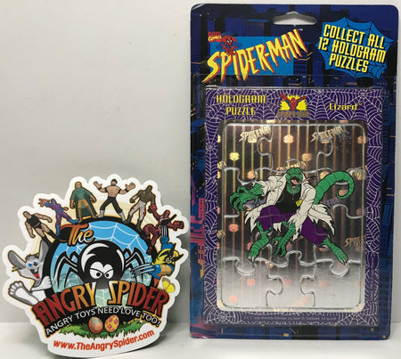 TAS040646 - 1996 Marvel Comics Vintage Spider-Man Hologram Puzzle - Lizard