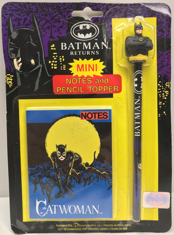 TAS037903 - 1991 Batman Returns Mini Notes and Pencil Topper Catwoman