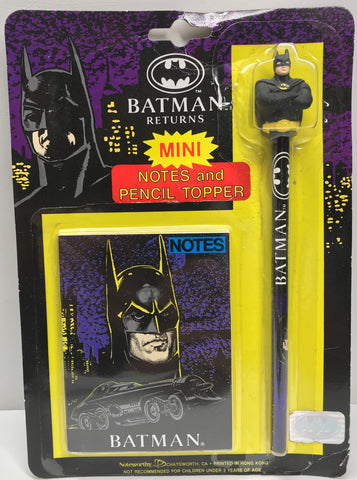 TAS037904 - 1991 Batman Returns Mini Notes and Pencil Topper