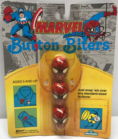 TAS037948 - 1991 Brookside Marvel Button Biters - Spider-Man