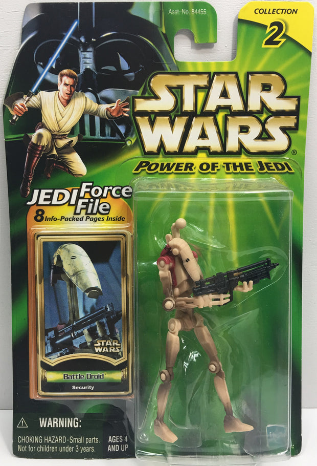 (TAS033203) - 2000 Hasbro Star Wars Power Of The Jedi Battle Droid Action Figure, , Action Figure, Star Wars, The Angry Spider Vintage Toys & Collectibles Store  - 1