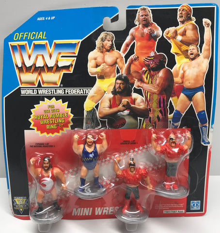 TAS037951 - 1991 Hasbro WWF WWE Royal Rumble Mini Wrestlers