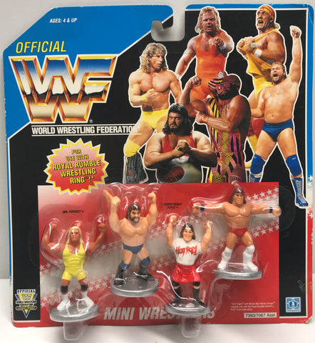 TAS037952 - 1991 Hasbro WWF WWE Royal Rumble Mini Wrestlers