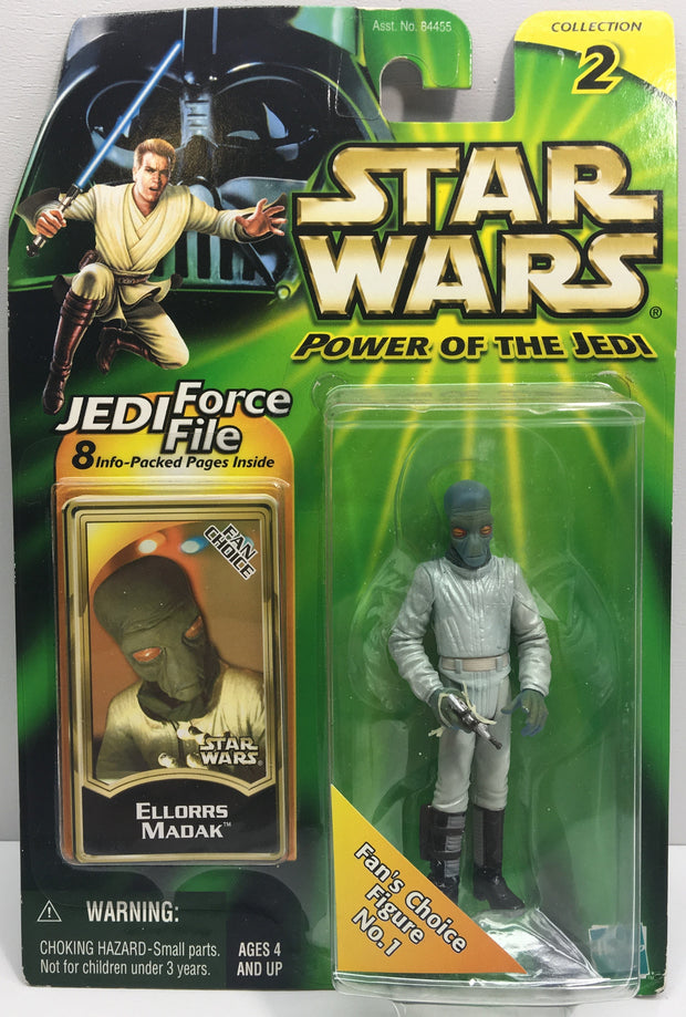 (TAS033215) - 2000 Hasbro Star Wars Power Of The Jedi Ellorrs Madak (Fan Choice), , Action Figure, Star Wars, The Angry Spider Vintage Toys & Collectibles Store  - 1